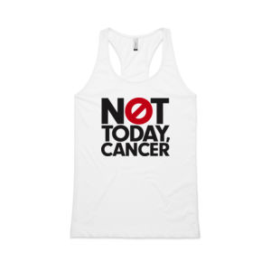 NOT TODAY, CANCER <br> Racerback Singlet Thumbnail