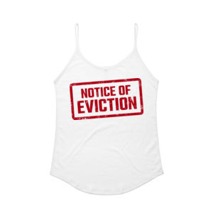 NOTICE OF EVICTION <br> String Singlet Thumbnail