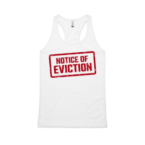 NOTICE OF EVICTION <br> Racerback Singlet Thumbnail