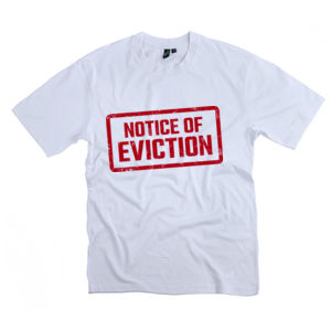 NOTICE OF EVICTION<br>Unisex Crew Neck Tee Thumbnail