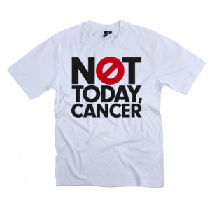 NOT TODAY, CANCER<br>Unisex Crew Neck Tee Thumbnail