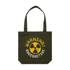 RADIOACTIVE WARNING! <br> Cotton Canvas Tote Thumbnail