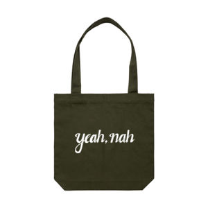 YEAH, NAH <br> Cotton Canvas Tote Thumbnail