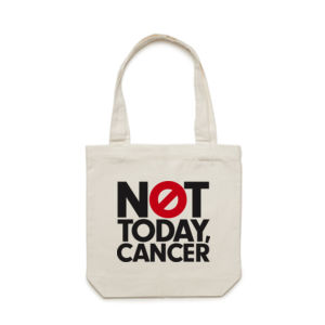 NOT TODAY, CANCER <br> Cotton Canvas Tote Thumbnail