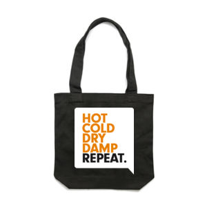 SPEAKY: HOT COLD <br> Cotton Canvas Tote Thumbnail